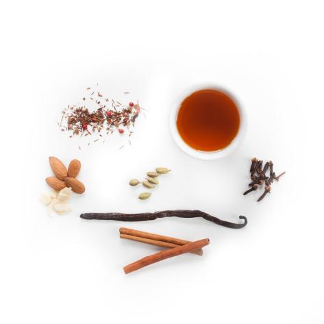Cardamom, vanilla, rooibos brewed tea